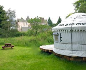 A garden outside Bamff Ecotourism
