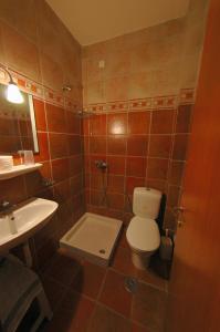 Ein Badezimmer in der Unterkunft Hotel Apollon