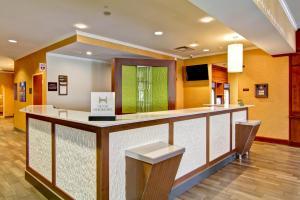 The lobby or reception area at Hilton Garden Inn Ottawa Airport