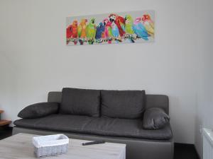 Ein Sitzbereich in der Unterkunft Haus Kummer Strandweg