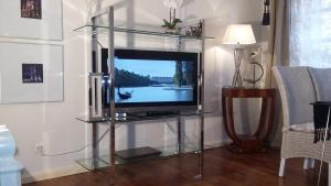 A television and/or entertainment center at Commanderie Cottage Colmar