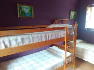 Een stapelbed of stapelbedden in een kamer bij Apartamentos El Campal