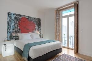Cama o camas de una habitación en Chiado Arty Flats