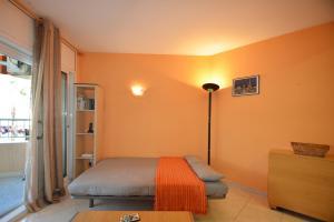 Cama o camas de una habitación en Apartamento en Salou