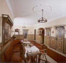 Ein Restaurant oder anderes Speiselokal in der Unterkunft Hotel Schwarzes Rössl