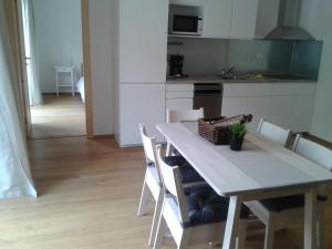 Küche/Küchenzeile in der Unterkunft Kovárna Residence apartments