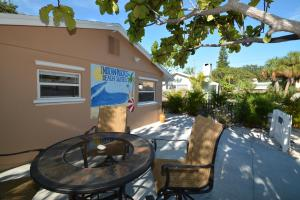 A patio or other outdoor area at Indian Rocks Beach Suites
