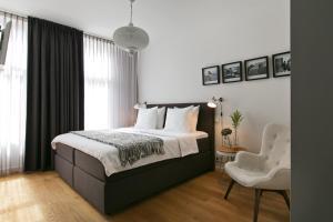 Een bed of bedden in een kamer bij Bacán Bed & Breakfast