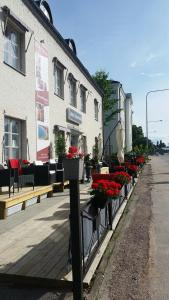 A porch or other outdoor area at Hotell Östermalm