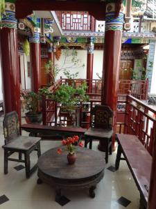 Jim's Tibetan Hotelにあるラウンジまたはバー