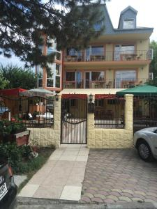 Патио или другая зона на открытом воздухе в Pensiunea Coralia