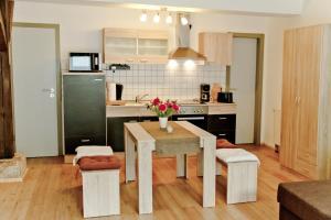 Küche/Küchenzeile in der Unterkunft Ferienwohnung Im Bürgermeisterhaus
