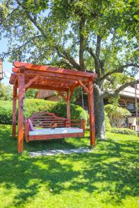 A porch or other outdoor area at Country House Na Škaluc