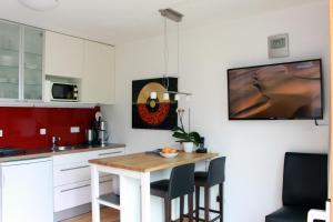 Küche/Küchenzeile in der Unterkunft Studio A Am Burgberg