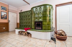 The lobby or reception area at Penzion U Privozu