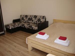 Кровать или кровати в номере Гостиница Гостиный Двор