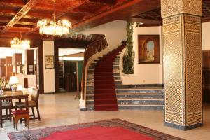 The lobby or reception area at Hotel Chellah