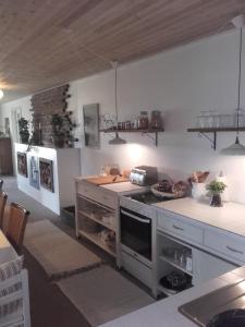 Køkken eller tekøkken på Frederiksensminde Bed & Breakfast