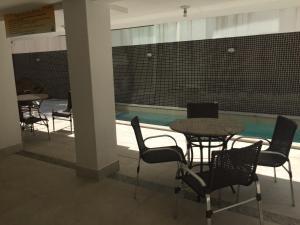 A porch or other outdoor area at Apartamento Capitães de Areia