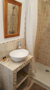 A bathroom at Maisoun Pequeux