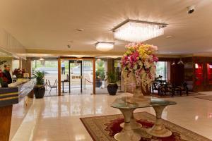 The lobby or reception area at Amman International Hotel