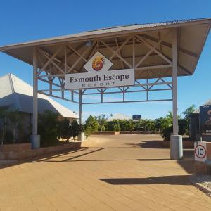 The facade or entrance of Exmouth Escape Resort