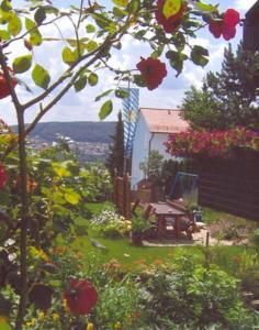 Ein Patio oder anderer Außenbereich in der Unterkunft Ferienwohnung Panoramablick