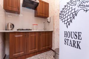 Кухня или мини-кухня в Отель Винтерфелл на Смоленской