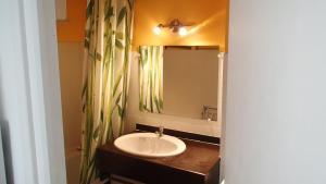 A bathroom at Appartement les pieds dans l'eau