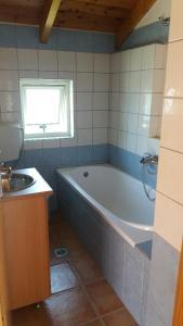 A bathroom at Politeia Houses