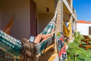 Uma varanda ou outra área externa em Cumbuco Kite in Paradise e Hospedaria