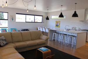 The lounge or bar area at Number 4