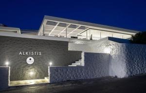 The facade or entrance of Alkistis Beach Hotel