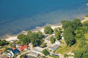 Blick auf DJH Jugendherberge Stralsund aus der Vogelperspektive