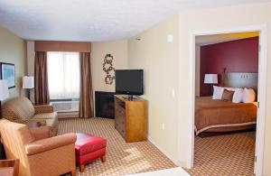 A television and/or entertainment center at GrandStay Inn & Suites of Luverne
