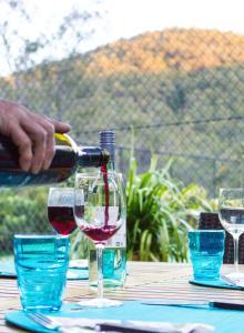 Drinks at Garasu Lodge