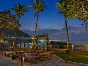 A patio or other outdoor area at Sheraton Grand Rio Hotel & Resort