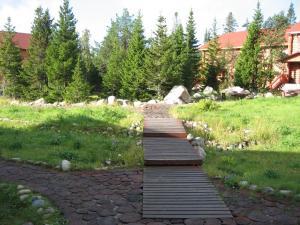 A garden outside Solovki Hotel