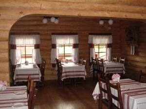 A restaurant or other place to eat at Solovki Hotel