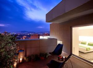 Ein Balkon oder eine Terrasse in der Unterkunft Hotel Fresh