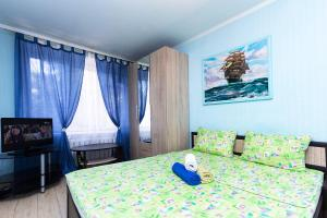 Кровать или кровати в номере ApartLux апартаменты рядом с Москва-Сити