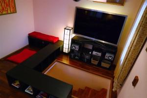 A television and/or entertainment center at Kotka House