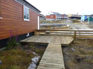 Патио или другая зона на открытом воздухе в IceCap Apartments