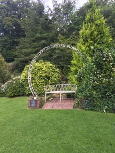 A garden outside Carreg Bran