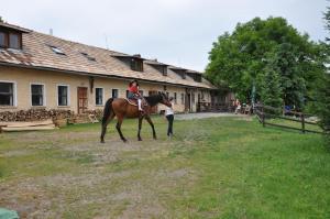Jazda na koni pri in country house alebo okolí