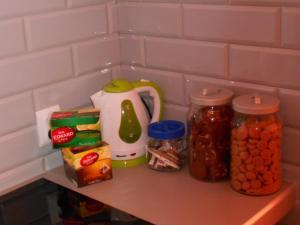 Zestaw do parzenia kawy i herbaty w obiekcie Mini Lux Apartment