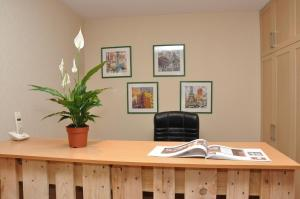 The lobby or reception area at ART Hostel