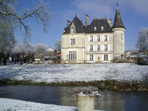 Château de la Chabroulie during the winter