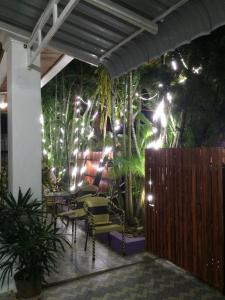 A porch or other outdoor area at DownTown Backpackers Hostel