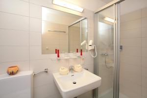 Ein Badezimmer in der Unterkunft Panorama Landhaus
